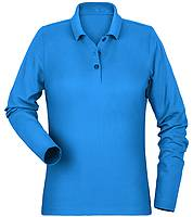 Langarm-Poloshirt Damen Printer SURF PIQUE L/S